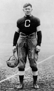 Jim Thorpe dressed in his Canton Bulldogs uniform