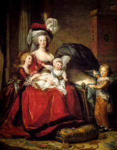 Marie Antoinette and her 3 children in 1787