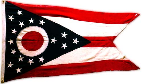 Original flag that flew over the Ohio Building at the Pan American Exposition.