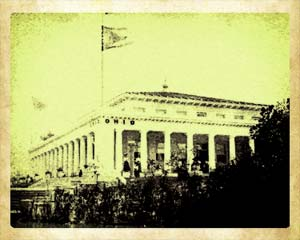 Ohio Building with the original flag flying overhead at the Pan American Exposition in Buffalo, NY.