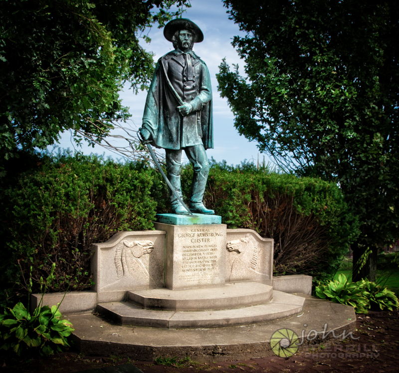 Custer Memorial statue in New Rumley, Ohio, site of Custer's birthplace.